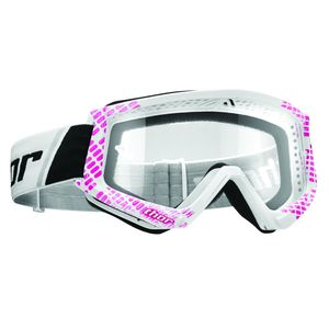 Masque cross COMBAT CAP PINK WHITE 2020 Rose/Blanc