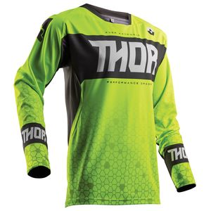 Maillot Cross Thor Fuse Bion - Vert Gris - 2018
