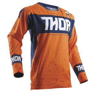 Maillot Cross Thor Fuse Bion - Rouge Orange Bleu - 2018