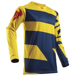 Maillot Cross Thor Pulse Level - Bleu Jaune - 2018