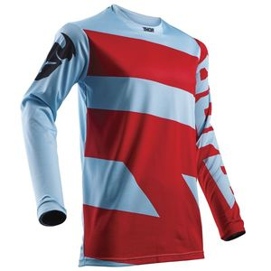 Maillot Cross Thor Pulse Level - Bleu Rouge - 2018