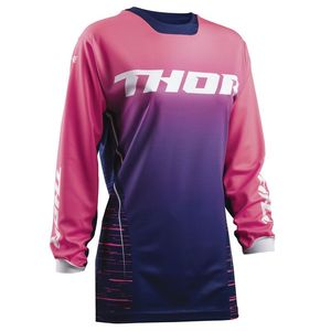 Maillot Cross Thor Woman Pulse Dashe - Bleu Rose - 2018