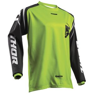 Maillot Cross Thor Sector Zones Lime Enfant 2019