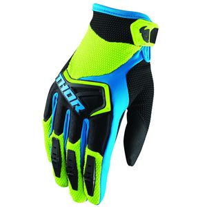 Gants cross SPECTRUM GREEN BLACK BLUE 2019 Noir/Vert