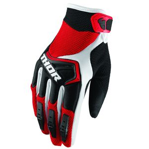 Gants cross SPECTRUM RED BLACK WHITE 2019 Rouge/Noir/Blanc