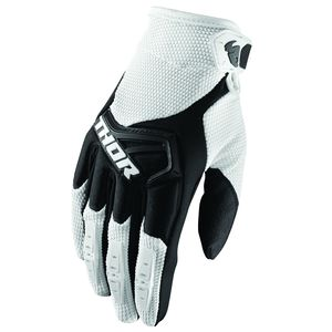 Gants cross SPECTRUM WHITE BLACK ENFANT  Blanc
