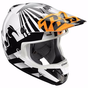 Casque cross VERGE DAZZ - ORANGE NOIR -  2018 Orange/Noir