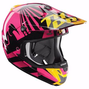 Casque cross VERGE DAZZ - MAGENTA NOIR -  2018 Rose/Noir