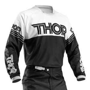 Maillot cross YOUTH PHASE HYPERION  BLACK WHITE  Noir/Blanc