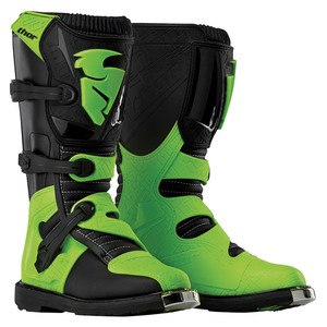 Bottes Cross Thor Blitz Mx Black Green 2019