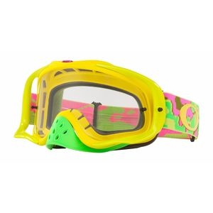 Masque cross CROWBAR MX - THERMO CAMO PYB écran clair 2018 Jaune/Rose