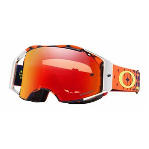Masque cross AIRBRAKE MX - TLD MEGABURST orange bleu écran PRIZM iridium 2018 Orange/Bleu