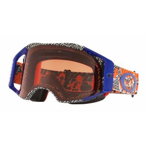 Masque cross AIRBRAKE MX - DAZZLE dyno bleu orange écran PRIZM bronze 2018 Bleu/Orange