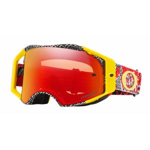 Masque cross AIRBRAKE MX - HIGH VOLTAGE rouge jaune écran PRIZM iridium 2018 Jaune/Rouge