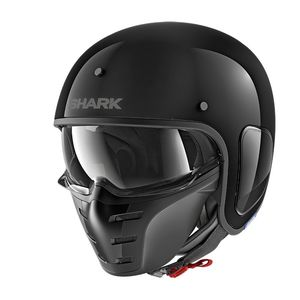 Casque S-DRAK - BLANK GLOSSY  BLK