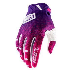 Gants Cross 100% Ridefit - Rose/violet 2018