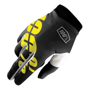 Gants Cross 100% Itrack Youth - Noir Jaune - 2018