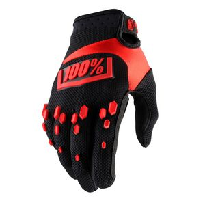 Gants Cross 100% Airmatic - Noir/rouge 2018