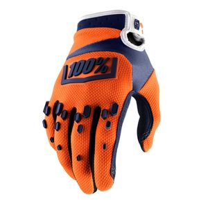 Gants Cross 100% Airmatic - Orange/bleu 2018