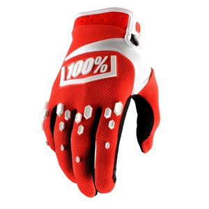 Gants Cross 100% Airmatic - Rouge/blanc 2018