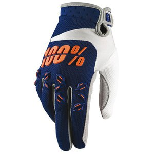 Gants Cross 100% Airmatic Youth - Bleu Marine Orange - 2018