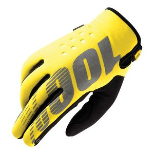 Gants Cross 100% Brisker - Jaune - 2018