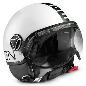 Casque FIGHTER CLASSIC BRILLANT  Blanc brilliant / Noir