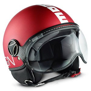Casque FIGHTER CLASSIC MAT  Rouge Frost / Blanc
