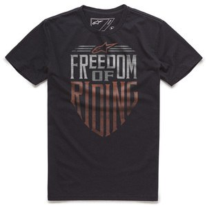 T-shirt manches courtes FREEDOM  Black