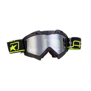 Masque cross ADRENALINE PROFI PLUS BLACK/YELLOW FLUO 2019 Noir/Jaune Fluo