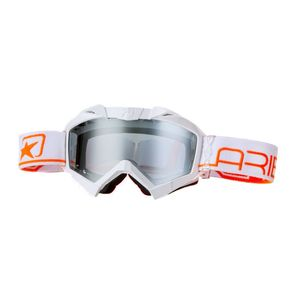 Masque cross ADRENALINE PROFI PLUS WHITE/ORANGE 2019 Blanc/Orange
