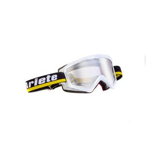 Masque cross MUDMAX RACER WHITE/BLACK/YELLOW 2019 Blanc/Noir/Jaune