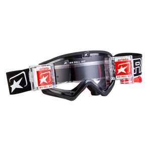 Masque cross MUDMAX BLACK ROLL OFF 2019 Noir/Blanc