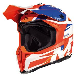 Casque cross FALCON - WESTON A1 - GLOSS PEARL FLUO ORANGE 2019 Gloss Pearl Fluo Orange