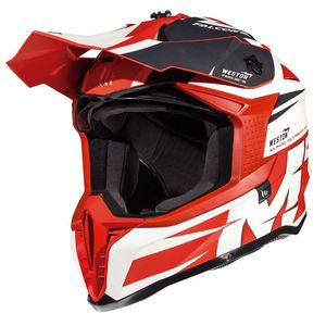 Casque cross FALCON - WESTON A0 - GLOSS PEARL RED 2019 Gloss Pearl Red