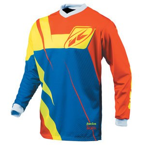 Maillot cross TRACK EDITION LIMITEE ML  ORANGE BLEU JAUNE FLUO 2015 Bleu/Orange/Jaune