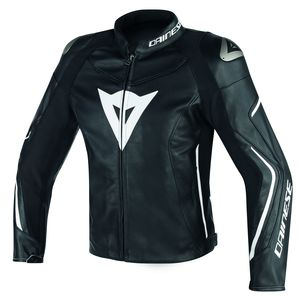 Blouson ASSEN LEATHER  Black/Black/White