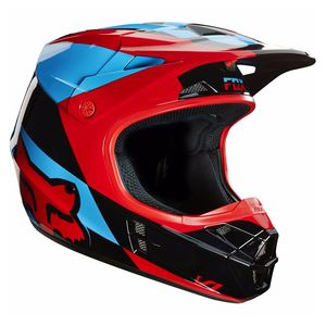 Casque Cross Fox Destockage V1 Mako Blue/red 2016