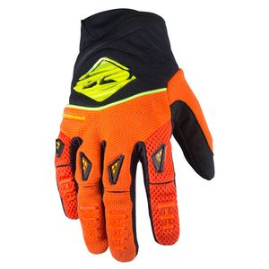 Gants cross PERFORMANCE - ORANGE FLUO / NOIR - 2017 Orange/Noir