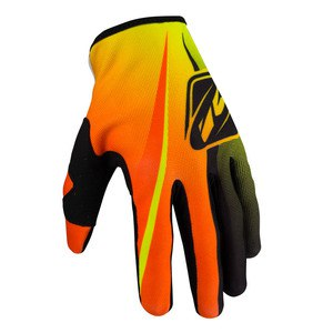Gants cross STRIKE KID - JAUNE FLUO / ORANGE FLUO - 2017 Orange/Jaune