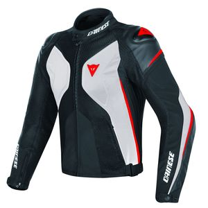 Blouson Dainese Super Rider D-dry White Black Red