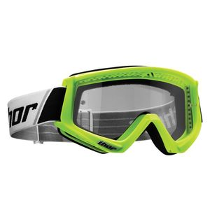 Masque cross YOUTH COMBAT - FLO GREEN  Vert fluo/Noir