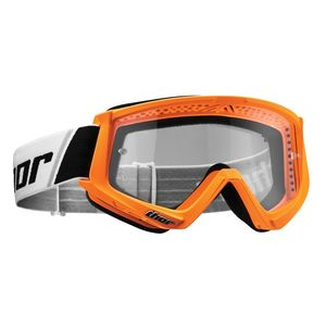 Masque cross YOUTH COMBAT - FLO ORANGE  Orange fluo/Noir