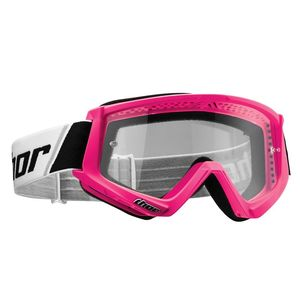 Masque cross COMBAT FLO PINK BLACK 2020 Rose fluo/Noir