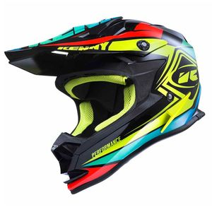 Casque cross PERFORMANCE - NOIR / JAUNE FLUO / ORANGE - 2017 Noir/Jaune fluo