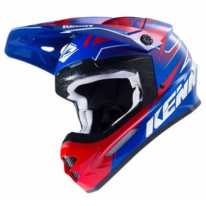 Casque cross TRACK - BLEU / ROUGE - 2017 Bleu/Rouge