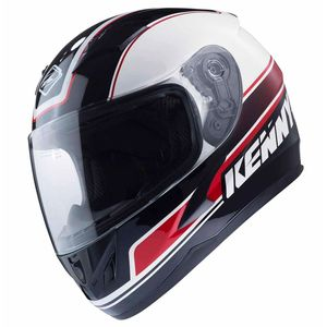 Casque Kenny Kid Targa - Blanc Noir Rouge - 2018