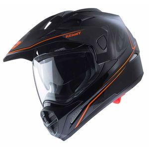 Casque cross EXTREME - BLACK NEON ORANGE 2020 Noir/Orange fluo