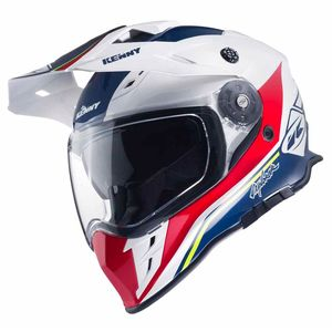 Casque cross EXPLORER - BLEU BLANC ROUGE  Bleu/Blanc/Rouge