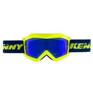Masque Cross Kenny Kid Track + - Bleu Jaune Fluo 2019